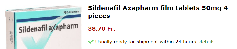 SIldenafil Axapharm is available in 50 mg pills